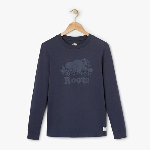 Roots-Women Tops-Womens Waterbased Cooper Beaver-Ombre Blue-A