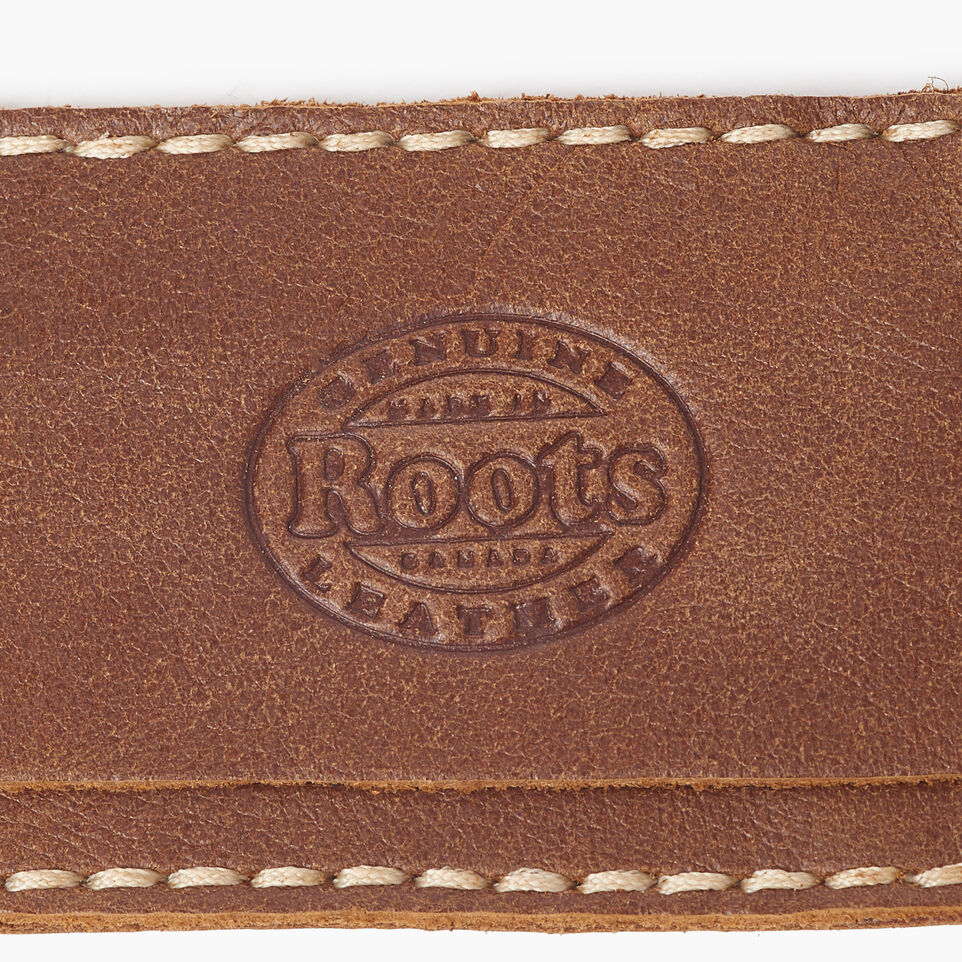 Roots-Leather Canada Collection By Roots™-Maple Leaf Luggage Tag-Natural-D