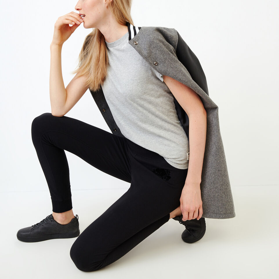 Roots-Women Our Favourite New Arrivals-Cozy Fleece Skinny Sweatpant-Black-B
