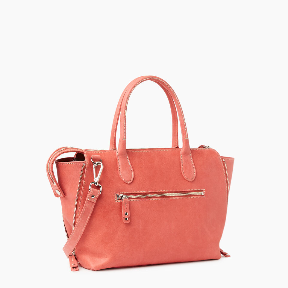 Roots-Women Leather-Arianna Bag Tribe-Coral-C