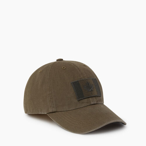 Roots-Men Accessories-Stealth Flag Baseball Cap-Fatigue-A