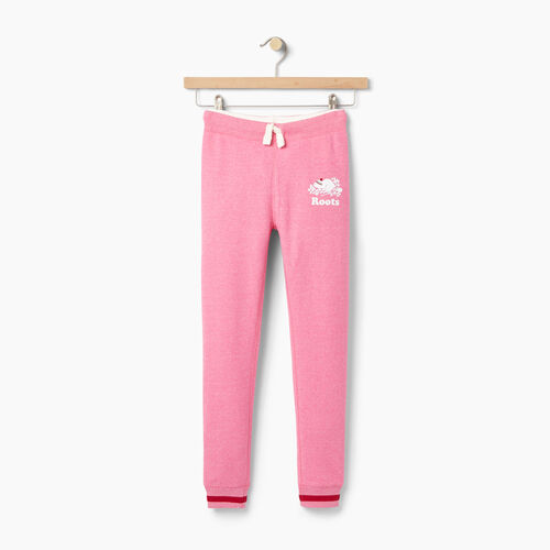 Roots-Winter Sale Kids-Girls Buddy Cozy Fleece Sweatpant-Pink Pepper-A