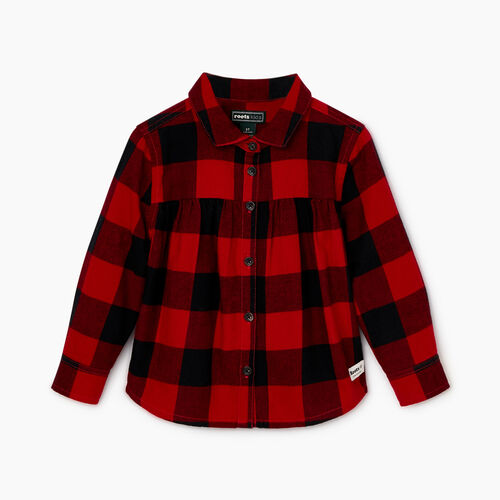Roots-Sale Kids-Toddler Park Plaid Shirt-Lodge Red-A