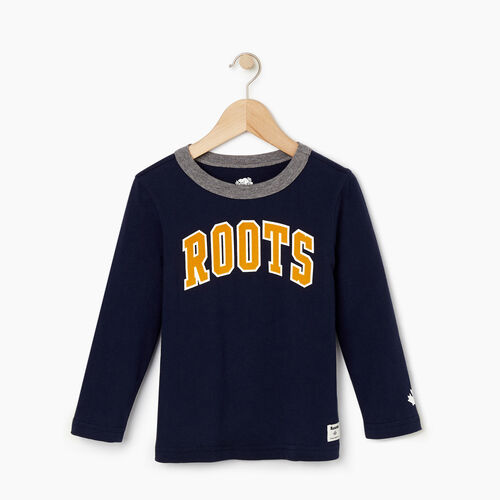 Roots-Kids Tops-Toddler Nova Scotia T-shirt-Navy Blazer-A