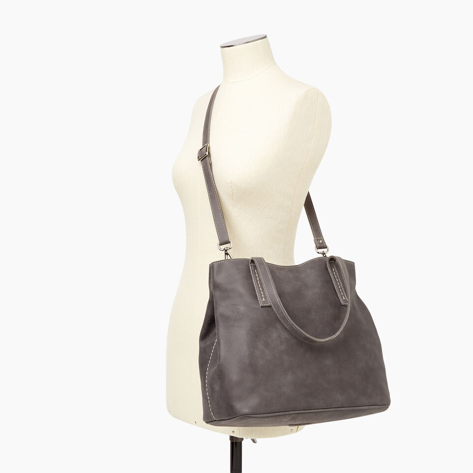 Roots-Leather New Arrivals-Amelia Tote-Charcoal-B