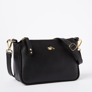 Roots-Leather Categories-Andie Bag Box-Black-A