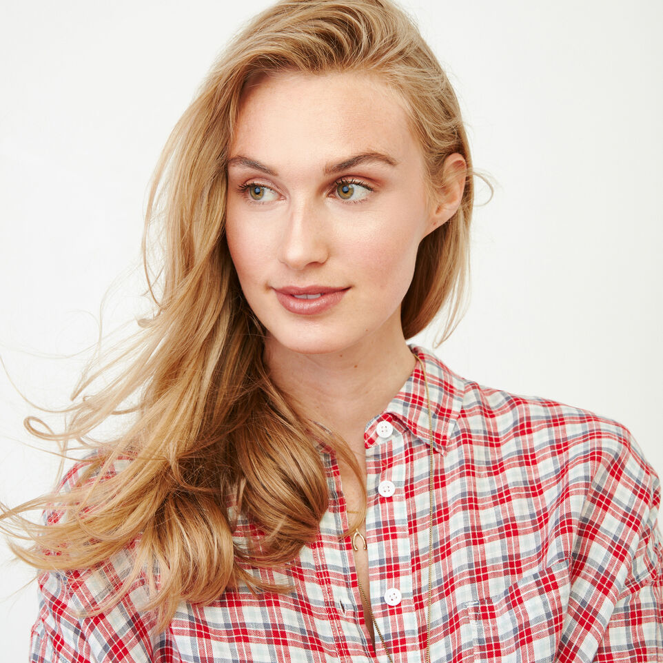 Roots-Women Our Favourite New Arrivals-Rivieres Popover Shirt-Racing Red-D