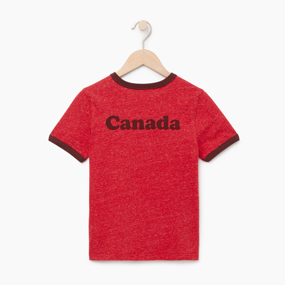 Roots-Kids Our Favourite New Arrivals-Boys Canada Cabin Ringer T-shirt-Sage Red Mix-B