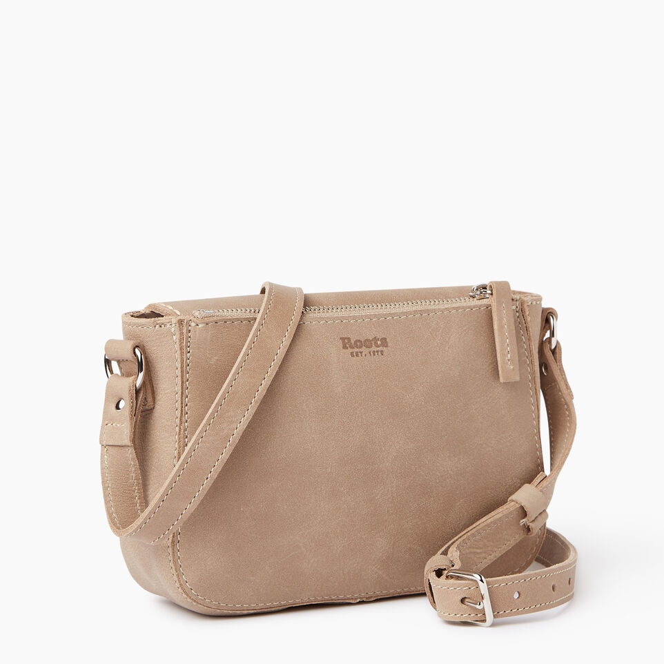 Roots-Leather  Handcrafted By Us Our Favourite New Arrivals-Riverdale Crossbody-Sand-C