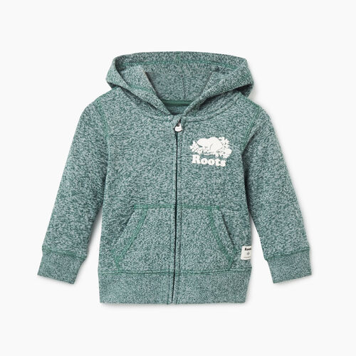 Roots-Kids Baby-Baby Original Full Zip Hoody-Hunter Green Pepper-A