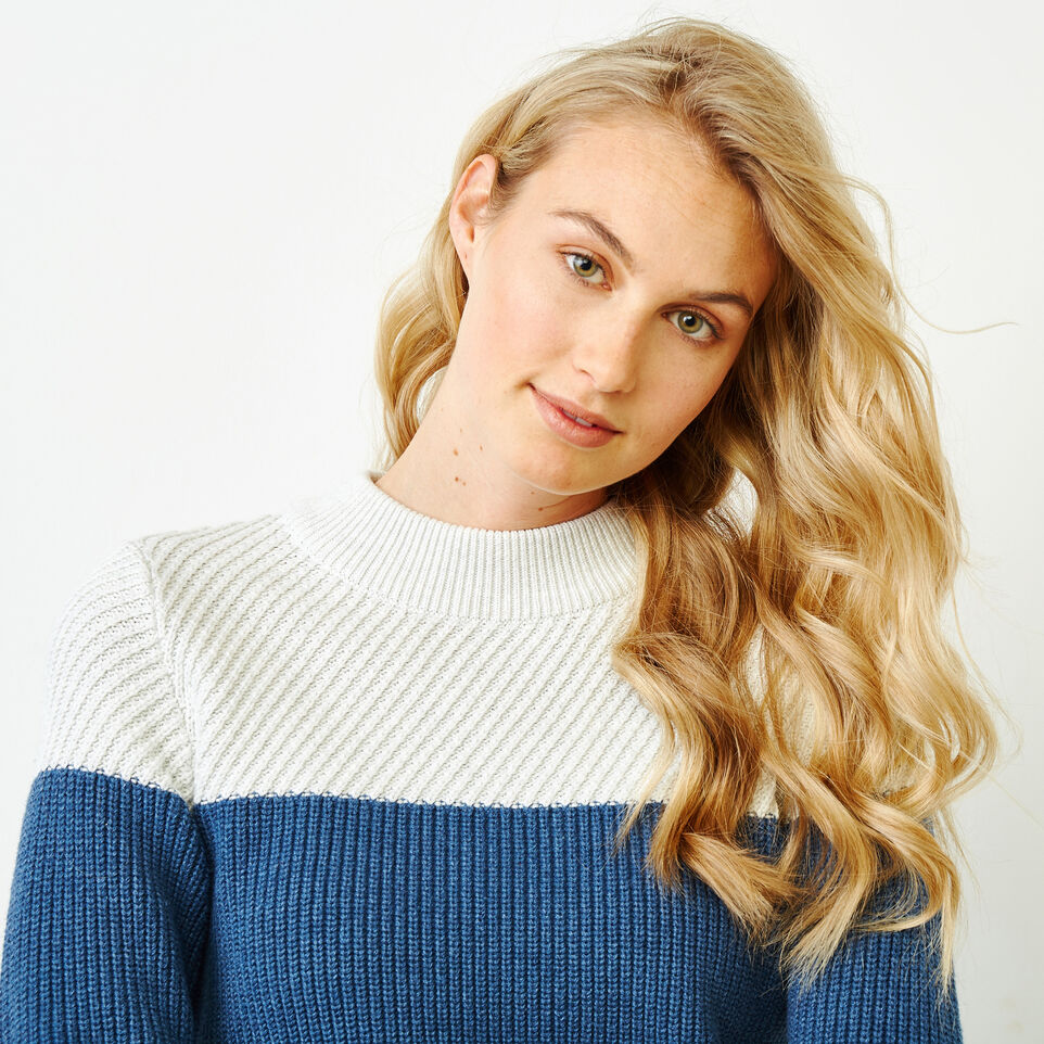 Roots-Women Sweaters & Cardigans-Arbutus Twill Sweater-Bering Sea-E