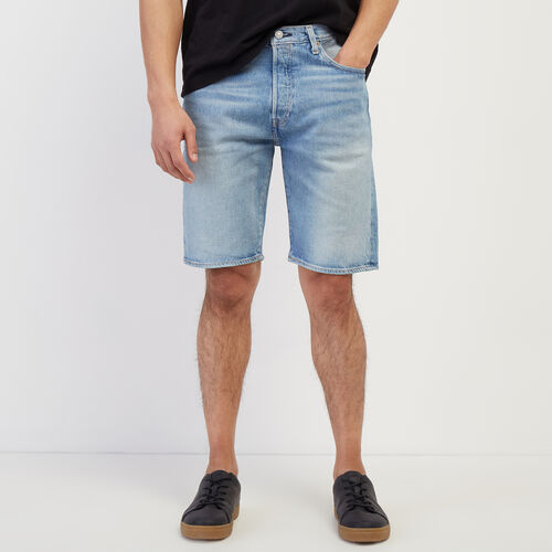 Roots-Men New Arrivals-Levi's 501 Hemmed Short-Light Denim-A
