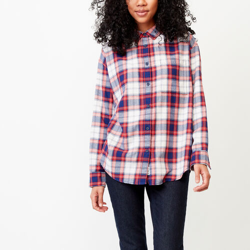 Roots-Women Categories-Alaina Boyfriend Shirt-Lollipop-A
