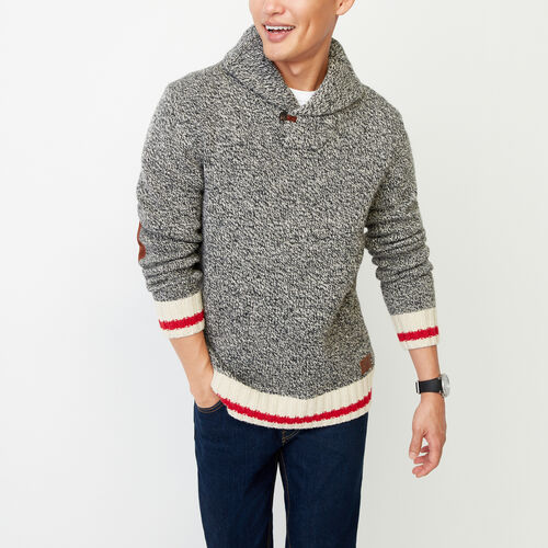 Roots-Men Our Favourite New Arrivals-Roots Cabin Shawl Pullover Sweater-Grey Oat Mix-A
