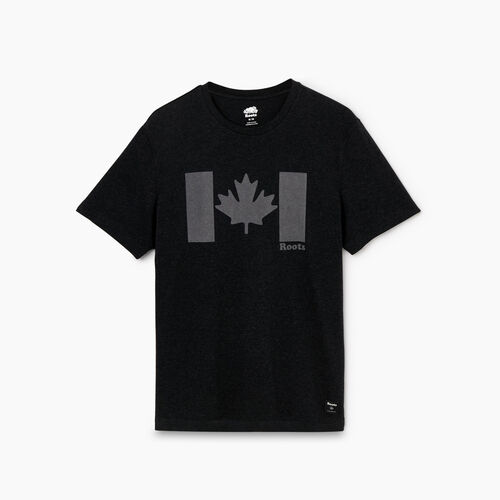Roots-Men Graphic T-shirts-Mens Original Canada Flag T-shirt-Black Mix-A