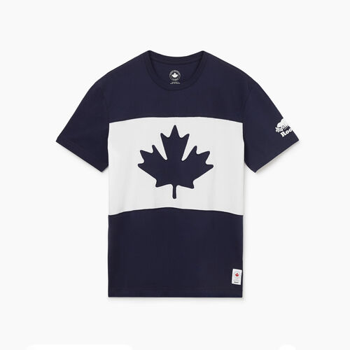 Roots-New For May Canada Collection By Roots™-Mens Blazon T-shirt-Navy Blazer-A