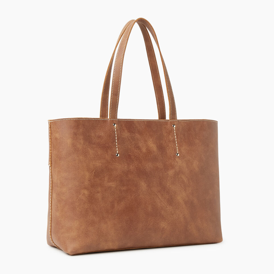 Roots-Leather New Arrivals-Westmount Tote Tribe-Natural-C