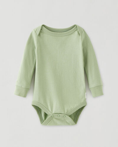 Roots-Kids Baby-Roots Baby's First Bodysuit-Leafy Green-A