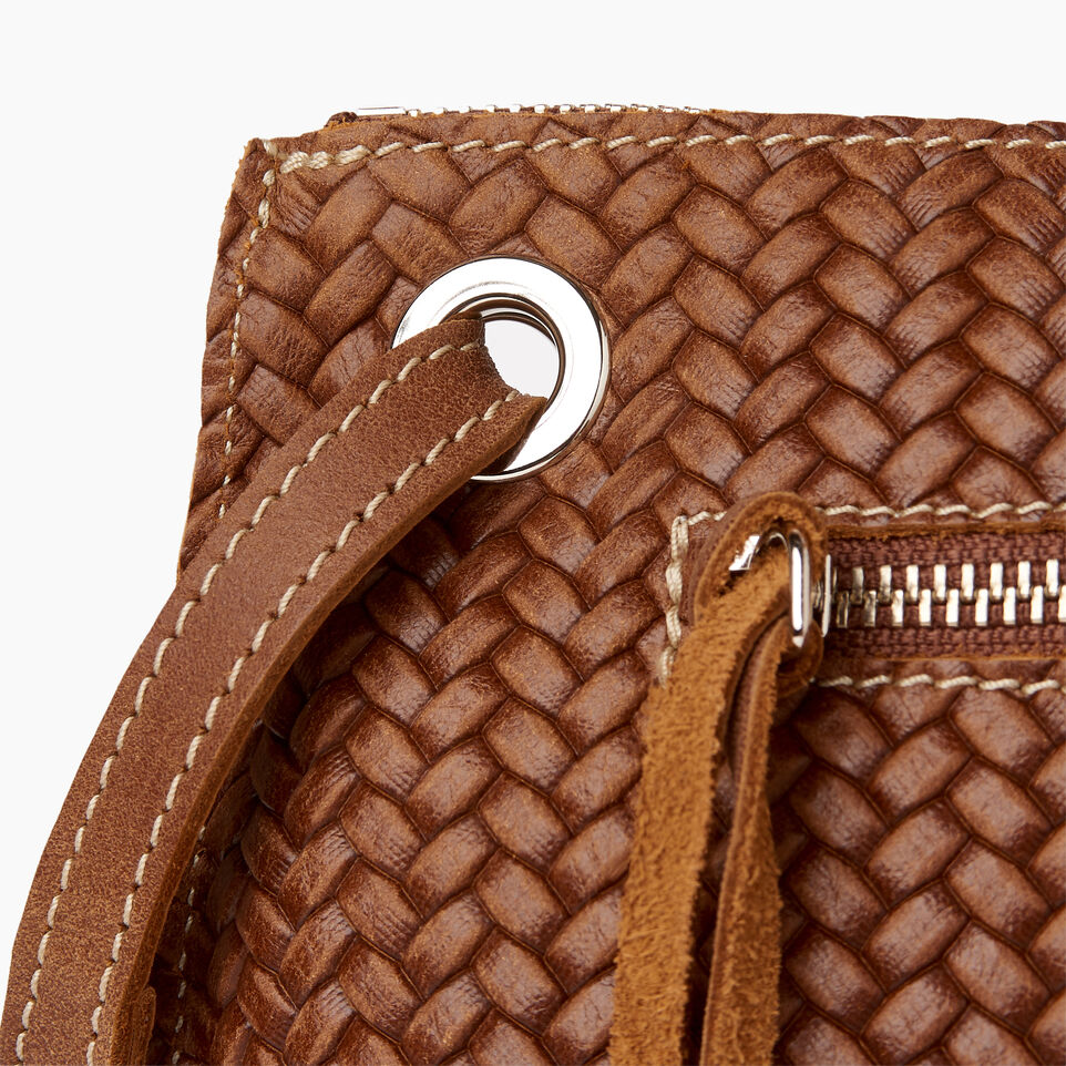 Roots-Leather  Handcrafted By Us Our Favourite New Arrivals-Edie Bag Woven-Natural-E