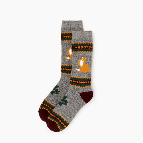 Roots-Women Categories-Woodland Creature Sock-Brown Sugar-A