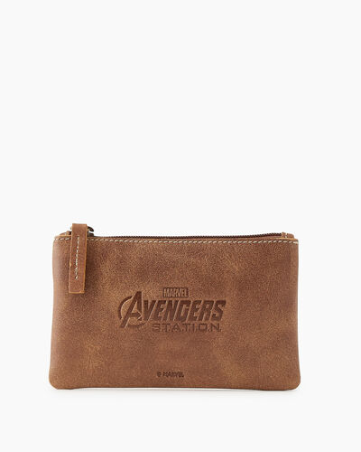 Roots-New For This Month Shop By Character-Avengers Medium Zip Pouch-Natural-A