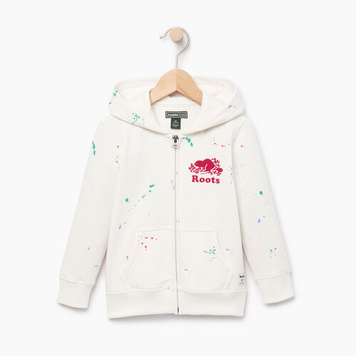 Roots-Clearance Kids-Toddler Splatter Full Zip Hoody-Cannoli Cream-A