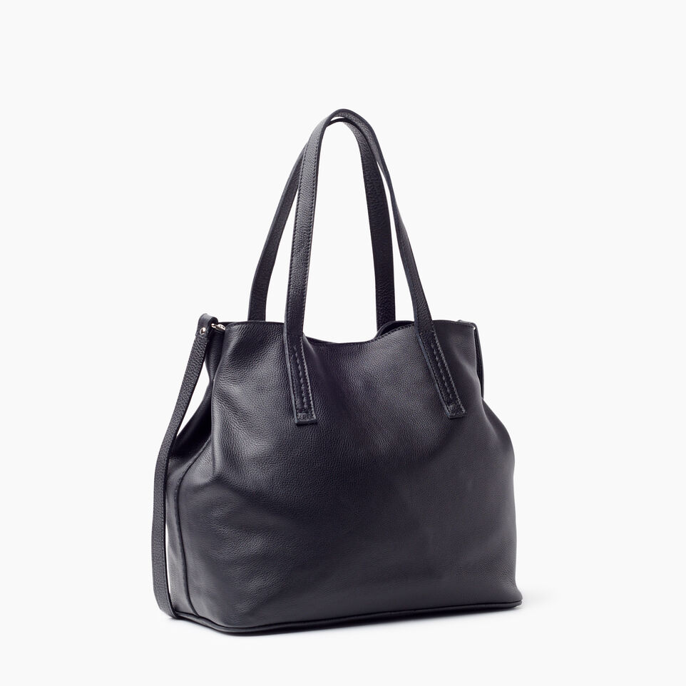 Roots-Leather New Arrivals-Amelia Tote Prince-Black-C