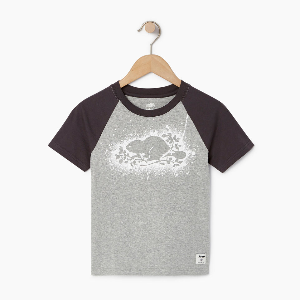 Roots-undefined-Boys Splatter Raglan T-shirt-undefined-A