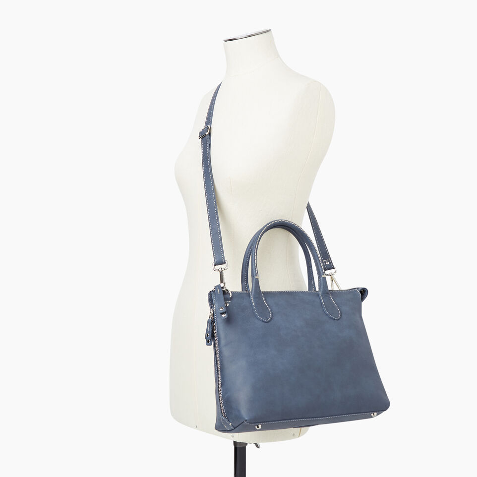 Roots-Leather New Arrivals-Arianna Bag Tribe-Navy-B