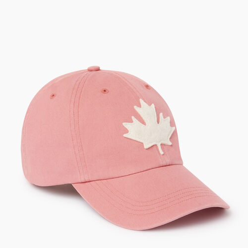 Roots-Men Our Favourite New Arrivals-Canada Leaf Baseball Cap-Sunset Apricot-A