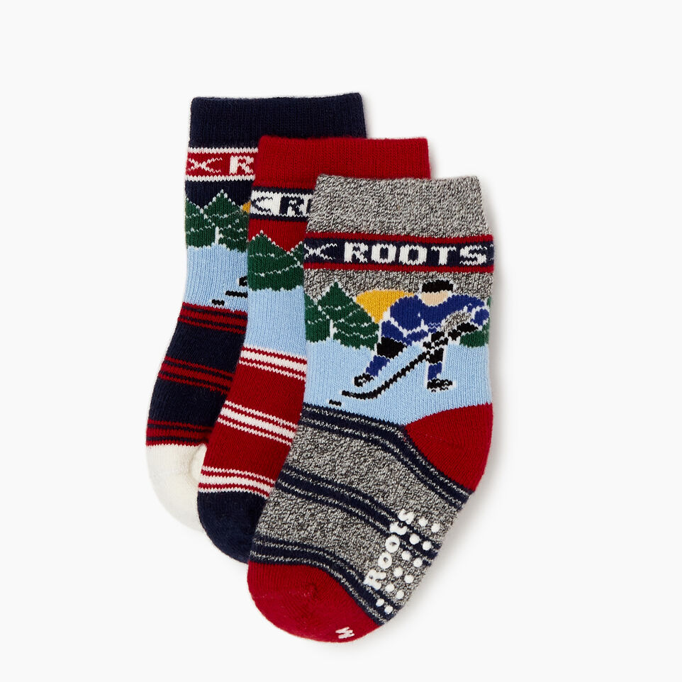 Roots-undefined-Toddler Winter Break Sock 3 Pack-undefined-A