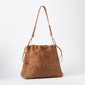 Roots-Leather Shoulder Bags-Drawstring Hobo Tribe-Africa-A