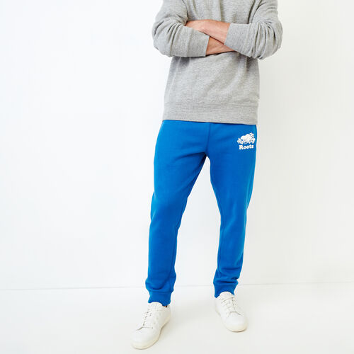 Roots-Men Our Favourite New Arrivals-Original Park Slim Sweatpant-Olympus Blue-A