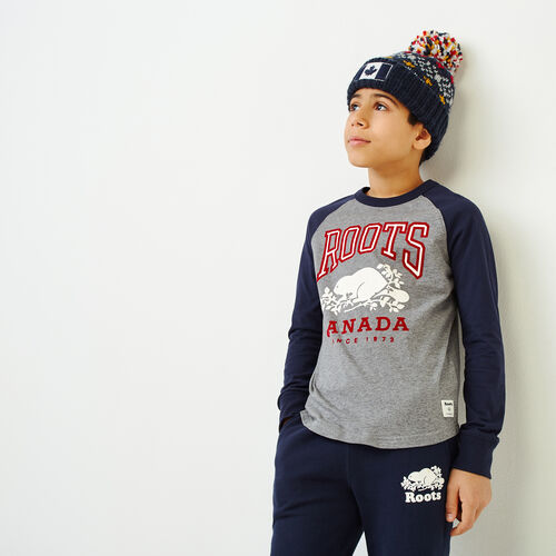 Roots-Kids Our Favourite New Arrivals-Boys Classic Raglan T-shirt-Navy Blazer-A