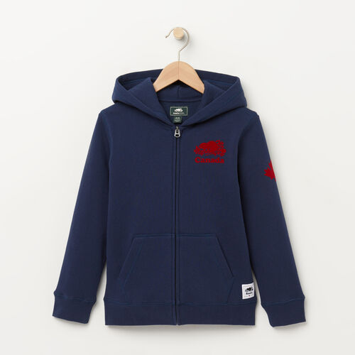 Roots-Kids Bestsellers-Boys Canada Full Zip Hoody-Cascade Blue-A