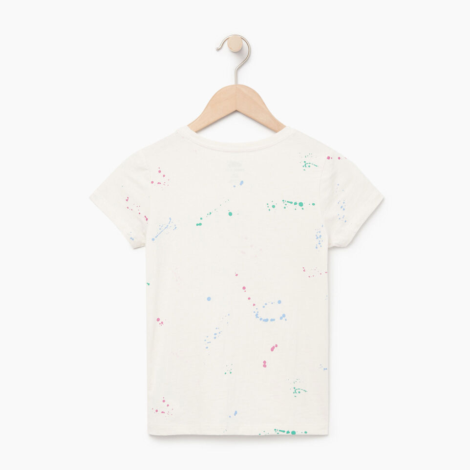 Roots-Kids Our Favourite New Arrivals-Girls Splatter Aop T-shirt-Cannoli Cream-B