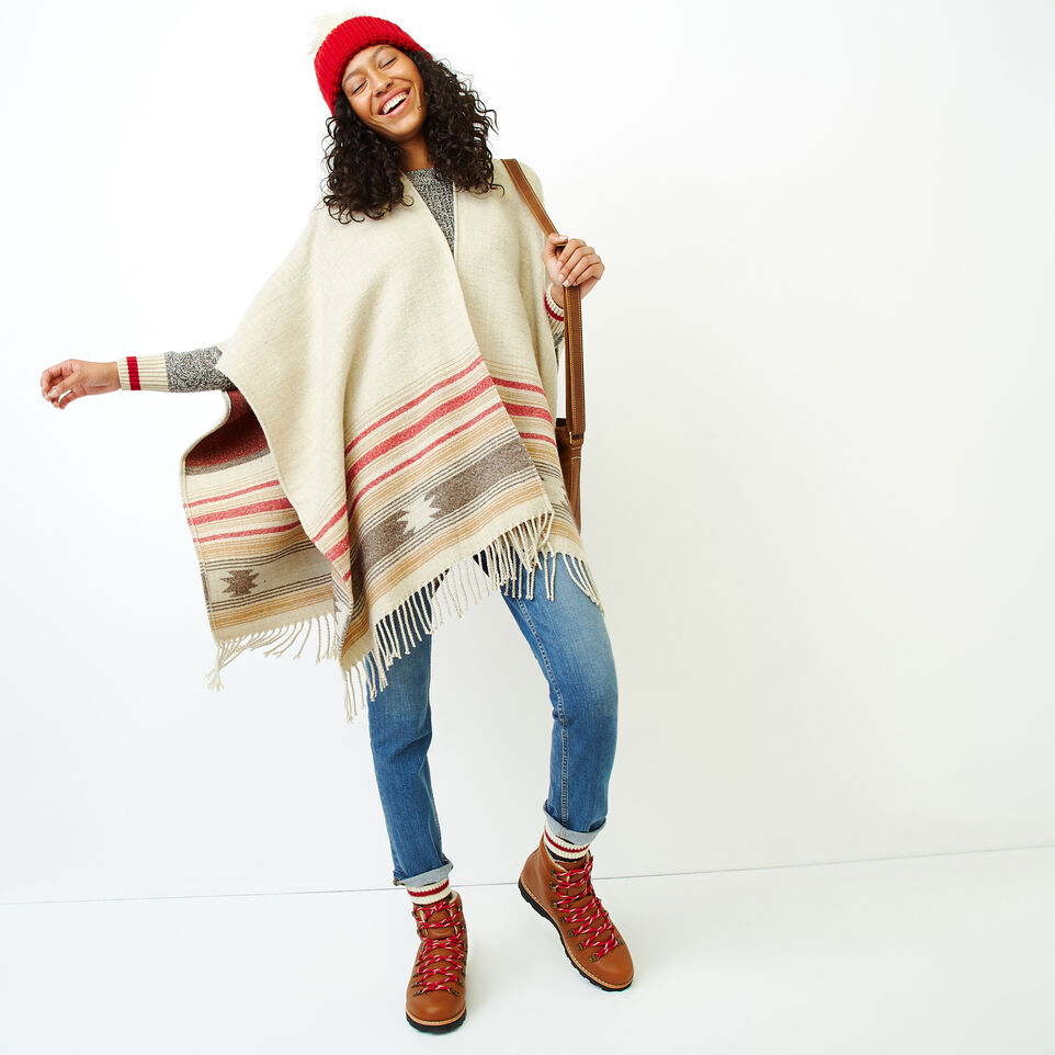 Roots-Women Accessories-Erindale Wrap-Flaxseed Mix-B