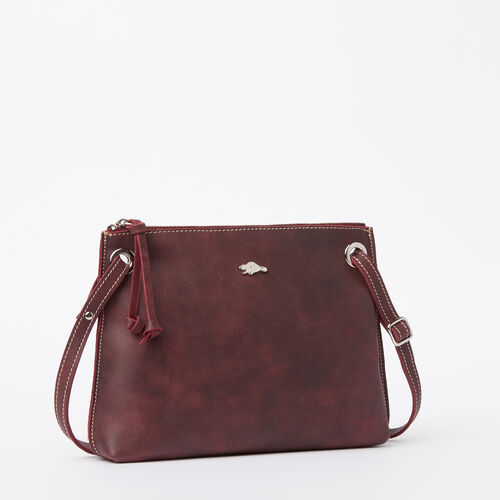 Roots-Leather Crossbody-Edie Bag Tribe-Crimson-A