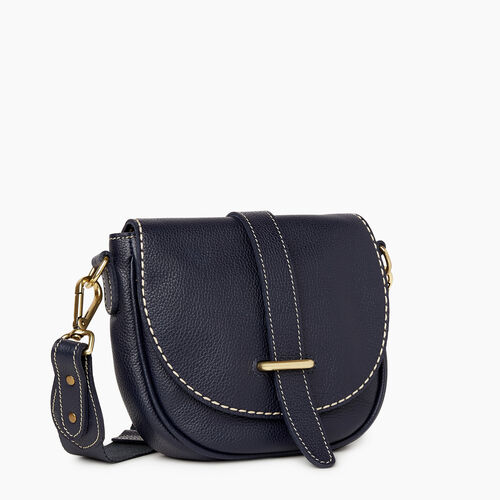 Roots-Women Crossbody-City Side Saddle Cervino-Navy-A