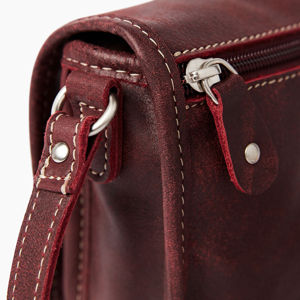 Roots-Clearance Leather-Angelina Bag Tribe-Crimson-D