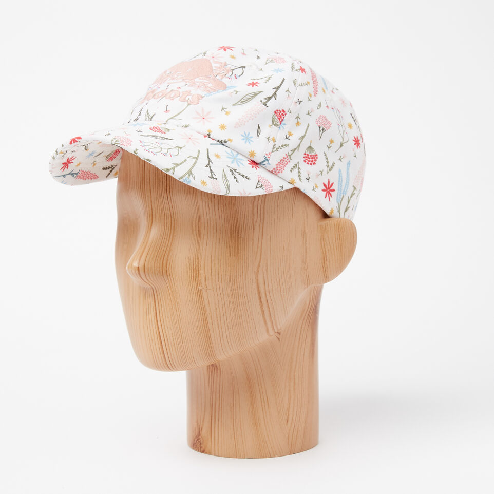 Roots-undefined-Girls Cooper Floral Baseball Cap-undefined-B