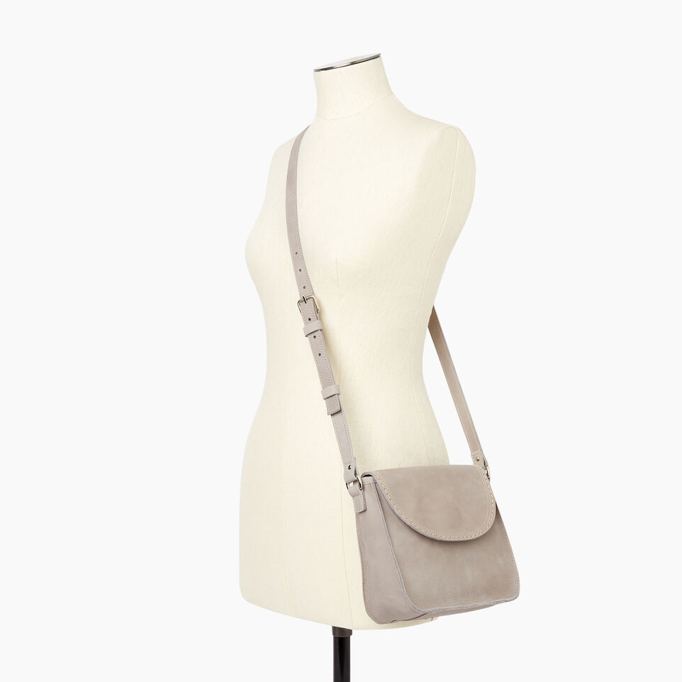Roots-Leather New Arrivals-Canmore Crossbody Tribe-Sterling Grey-B