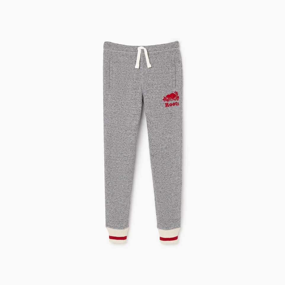 Roots-Kids Girls-Girls Roots Cabin Cozy Sweatpant-Salt & Pepper-A