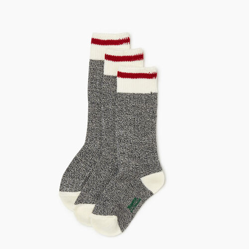 Roots-Kids Accessories-Kids Cabin Sock 3 Pack-Grey Oat Mix-A