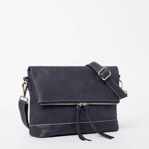 Roots-Women Bags-Emma Bag Tribe-Dark Navy-A