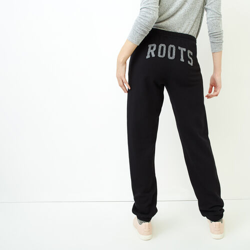 Roots-Women Sweatpants-Rainbow Boyfriend Sweatpant-Black-A