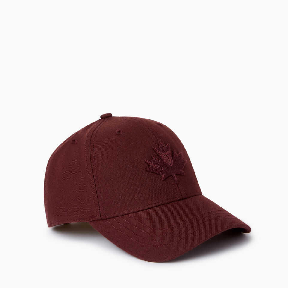 Roots-Men Our Favourite New Arrivals-Modern Leaf Baseball Cap-Crimson-A