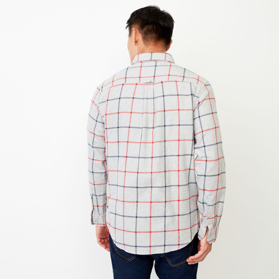 Roots-Men Our Favourite New Arrivals-Nordic Flannel Shirt-Med Grey Mix-D