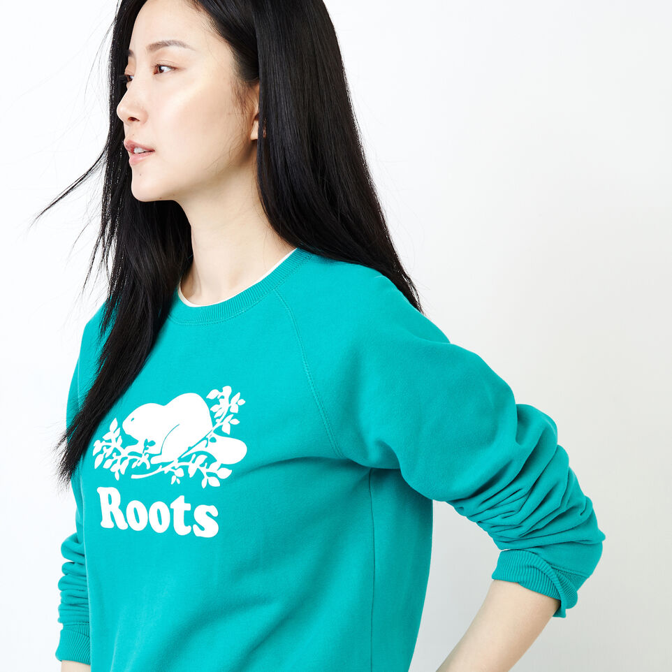 Roots-Women Our Favourite New Arrivals-Original Crew Sweatshirt-Dynasty Turquoise-D