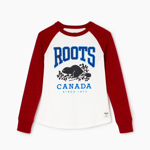 Roots-Kids Our Favourite New Arrivals-Boys Classic Raglan T-shirt-Sage Red Pepper-A